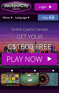 The mobile Jackpot City Casino site