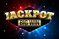 The image shows a sign that the Jackpot has been hit