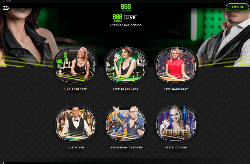 The 888Casino Live games selection